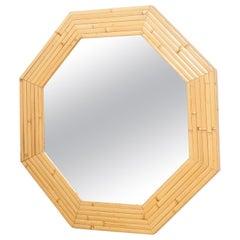 Mid-Century Modern French Bamboo Mirror, circa 1960
