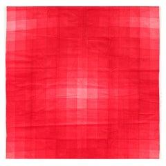 """Vintage Scandinavian Verner Panton """"checkers Ii"""" Textile. 3 ft 10 in x 3 ft 10in"""