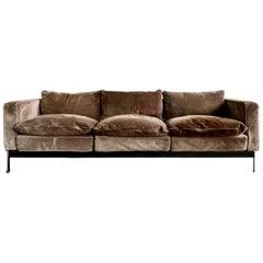 Robert Haussmann for De Sede RH 302, Original Suede Sofa