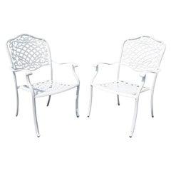 Mid-Century Modern Pair of Outdoor Patio Lounge Chairs 1980s Brown Jordan