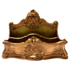 Antique French Bronze & Copper Letter Rack by Famous Fondeur to Napoleon III