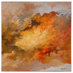 """Framed Oil on Canvas """"The Promise of Hope"""", Abstract, by Dino Savio"""