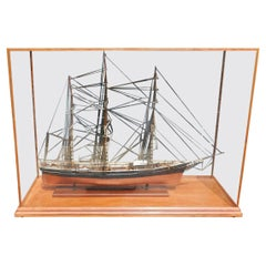 American Three Masted Clipper Ship Model Sovereign of the Seas Under Glass, 20th