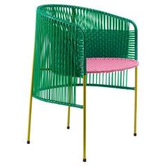 Green Caribe Dining Chair by Sebastian Herkner