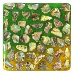 Abalone Seashell and Acrylic Bar Kitchen Table Trivet