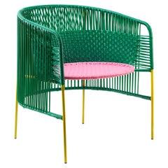 Green Caribe Lounge Chair by Sebastian Herkner