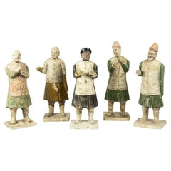 Set of 5 Chinese Statuettes, Early 20th Century
