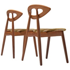 Pair of Ejvind A. Johansson 'Eye' Dining Chairs in Teak