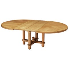 Guillerme & Chambron Extendable Dining Table in Oak