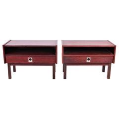 Danish Rosewood or Palisanderwood Bedside Tables, 1960s