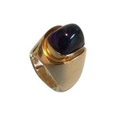 Bent Knudsen 14 K Gold Ring with Amethyst