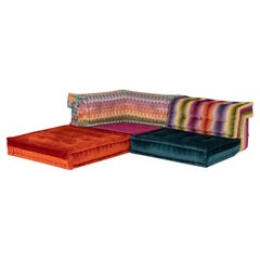 Roche Bobois by Hans Hopfer Mah Jong Missoni Home Sectional Sofa, Set of 5