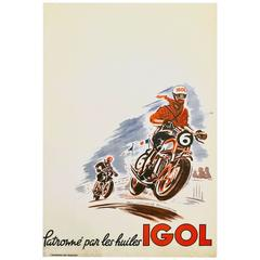 French Mid-Century Modern Period Poster for Igol by Marcel Chauveau, 1955