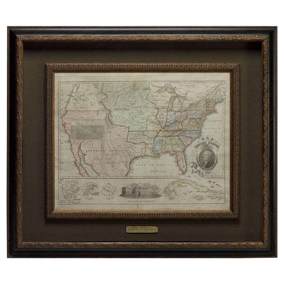 """1828 """"Map of the United States"""" by T. Ensign"""