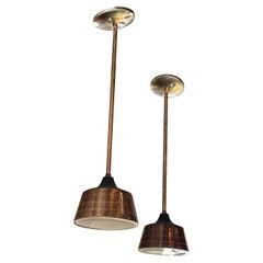 Mid-Century Modern Perforated Spun Aluminum Pendant Lights by Lightolier