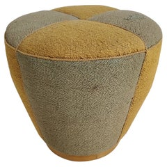French Art Deco Pouf Upholstered in Original Fabric