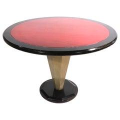 Polychrome Cerused Oak Dining Center Table