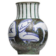 Ceramic Vase from the 1950s by the French Ceramist Edouard Cazaux F296