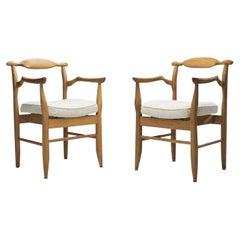 "Guillerme et Chambron ""Bridge Fumay"" Dining Chairs for Votre Maison, France 1960"