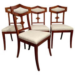 Set of Four Biedermeier Chairs, Northern Germany 1820