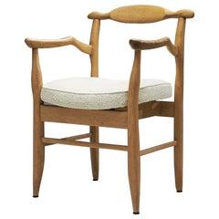 """Guillerme et Chambron """"Bridge Fumay"""" Dining Chair for Votre Maison, France 1960s"""