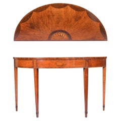 18th Century Demi-Lune Georgian Satinwood Console Table