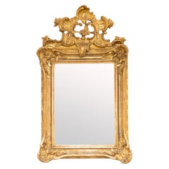 Rococo Giltwood Wall Mirror, 18th Century