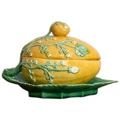 20th Century Portuguese Melon Form Tureen in Ceramic