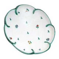 20th Century Austrian Gmumndner Keramik Hand Painted Ceramic Plate