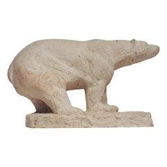 Polar Bear Sculpture by Herbert Geldhof, 1950s