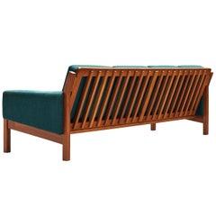 Comfortable Danish Sofa in Blue Upholstery