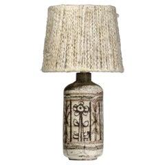French Side Lamp Ceramic Gustave Reynaud Atelier Du Mûrier Jean Derval 60s E284