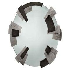 Garrido Cuspid Oval Mirror in Anthracite Nickel Finish