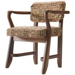 Guillerme & Chambron 'Denis' Armchair in Oak