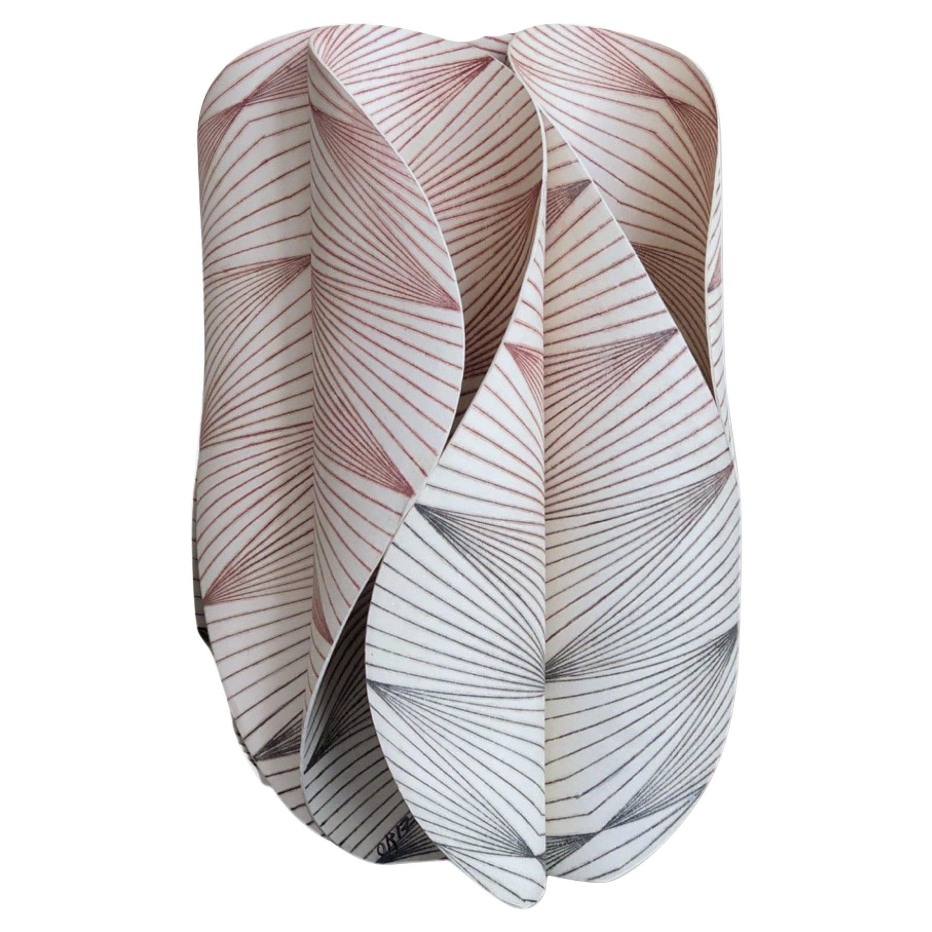 """Abstract Ceramic Sculpture """"Defensa I,"""" by Maria Oriza-Perez"""