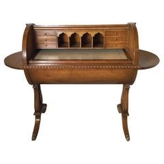 Regency Style Barrel Top Desk in Fruitwood