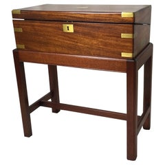 English Lap Desk Box on Stand