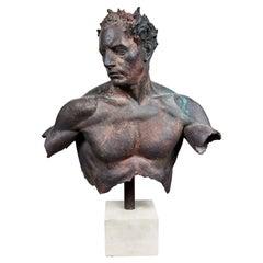 """Fragment of Hermes"" Bronze Bust Sculpture by Sabin Howard, 2005"