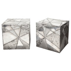 Vintage Pair of Patchwork Cubes by Erich Bolinger