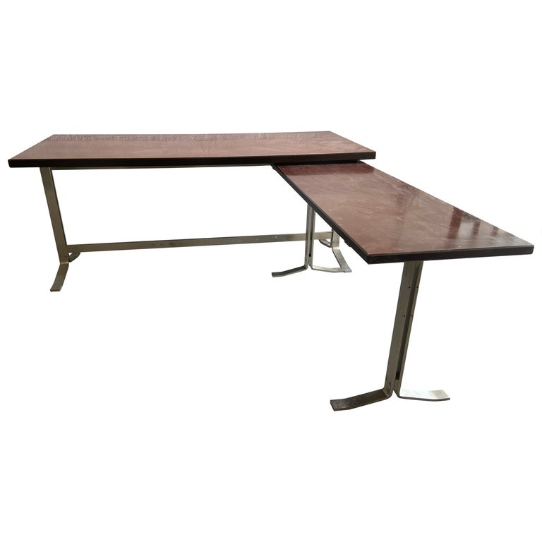 Mid-Century Modern Italian Table with Console by Gianni Moscatelli for Formanova For Sale
