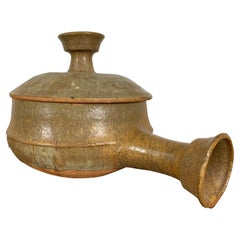 Stoneware Lidded Bowl with Handle