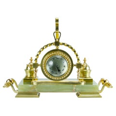 Empire Style Table Clock and Inkwell