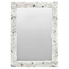 Selenite Mirror with Silver-Plated Kyanite