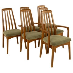 Koefeds Hornslet Eva Style Mid Century Teak Dining Chairs, Set of 6