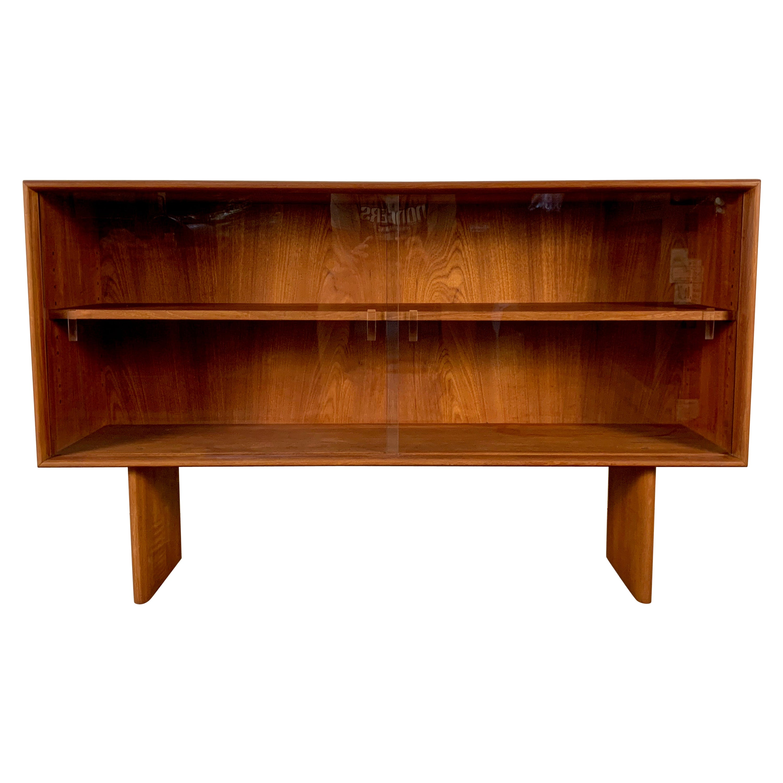 Solid Teak Display Cabinet by Johannes Aasbjerg