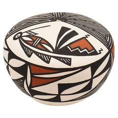 Native American Acoma Pottery Seed Pot - New Mexico