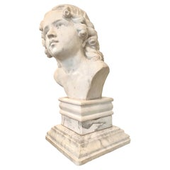 Marble Bust of a Young Man, Carrara Marble