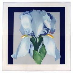 Mid-Century Modern Framed Lowell Nesbitt Signed Silkscreen AP Oriental Iris 70s