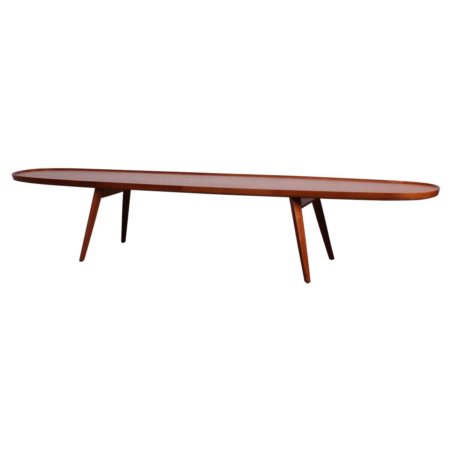 Dunbar Surfboard Coffee Table by Edward Wormley