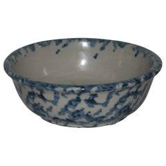 19thc Sponge Ware Bowl